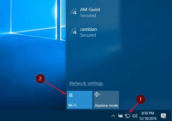 Activar WiFi en Windows Server 2019, 2016, 2012