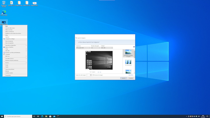 Franja blanca en impresiones desde el Visor de Imágenes de Windows 10